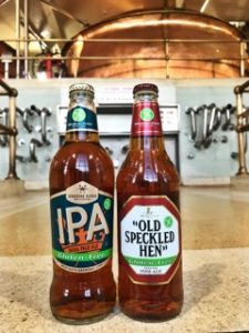 Gluten free Greene King IPA and Old Speckled Hen