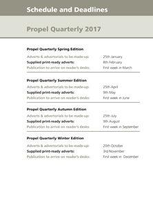 Propel Quarterly Deadlines 2017