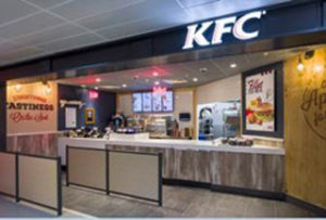 HMSHost International has opened the first UK airport site for KFC, at Manchester airport's Terminal Three