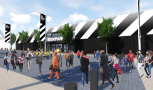 CGI of the new Boxpark Wembley