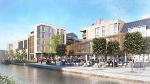 The redevelopment of the Bircherley Green Shopping Centre in Hertford will feature riverside restaurants and cafes