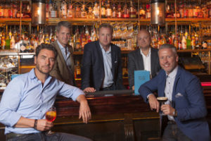 From left: Be At One co-founder Steve Locke, chief financial officer Toby Rolph, co-founder Rhys Oldfield, chief operating officer Andrew Stones and co-founder Leigh Miller