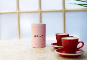 Grind coffee tin