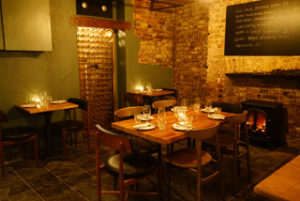 The basement restaurant at Linden Stores in Highbury Corner, which is being launched by Oklava co-founder Laura Christie and partner Chris Boustead