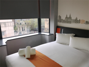 One of the rooms at the new Easyhotel in Liverpool