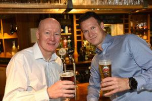 Hawthorn Leisure chief executive Gerry Carroll (left) and finance director Matt Ward