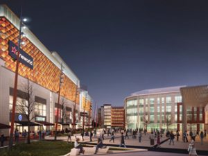 A CGI of the Time Square development in Warrington, which will be anchored by Cineworld