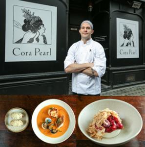Executive chef George Barson outside Cora Pearl