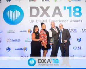 Novus won the customer review and feedback category at the UK Digital Experience Awards