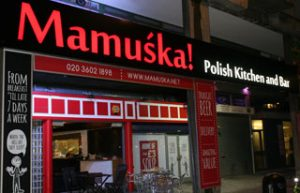Mamuska Polish Kitchen and Bar in Elephant and Castle, which is closing at the end of July