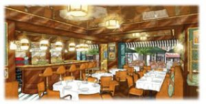 Artist impression of Harry's Bar, which Caprice Holdings is opening at St Christopher's Place