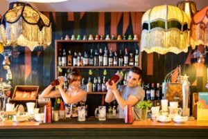 Loungers bar staff mixing drinks