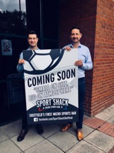 Former Champs operator Danny Grayson has teamed up with local businessman James Dobson to launch micro sports bar concept Sport Shack