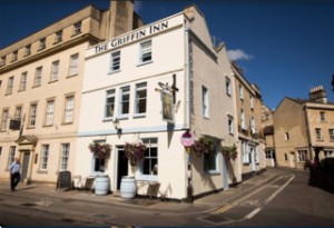 The Griffin Inn, Bath, which has been acquired by St Austell Brewery and is tenant Jack Werner's fourth site