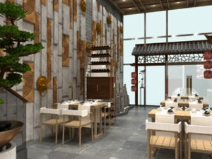 CGI of the new JinLi restaurant opening at Central Cross, a 48,000 square foot mixed-use development at the eastern gateway to Chinatown London