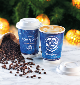 AMT Coffee has launched a 100% bio-compostable coffee cups and lids made from sugar crop waste