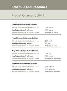 Propel Quarterly Deadlines 2019
