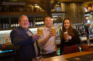 From left: Inn Collection Group operations director Paul Brown, Richard Wearmouth, chair of Advance Northumberland, and Katy McIntosh, of Advance Northumberland, at the Amble Inn