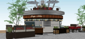 CGI of Burger & Lobster at Jewel in Singapore