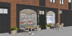 CGI of The Sea, the fishmonger and delicatessen by day and seafood and champagne bar at night concept by Bonnie Gull co-founder Alex Hunter