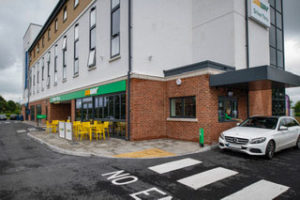 Subway has opened its first drive-thru in the south of England, in Swindon