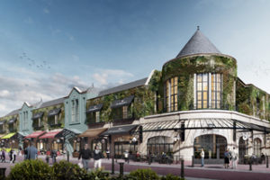 CGI of the new restaurant quarter at the St George's shopping centre in Preston