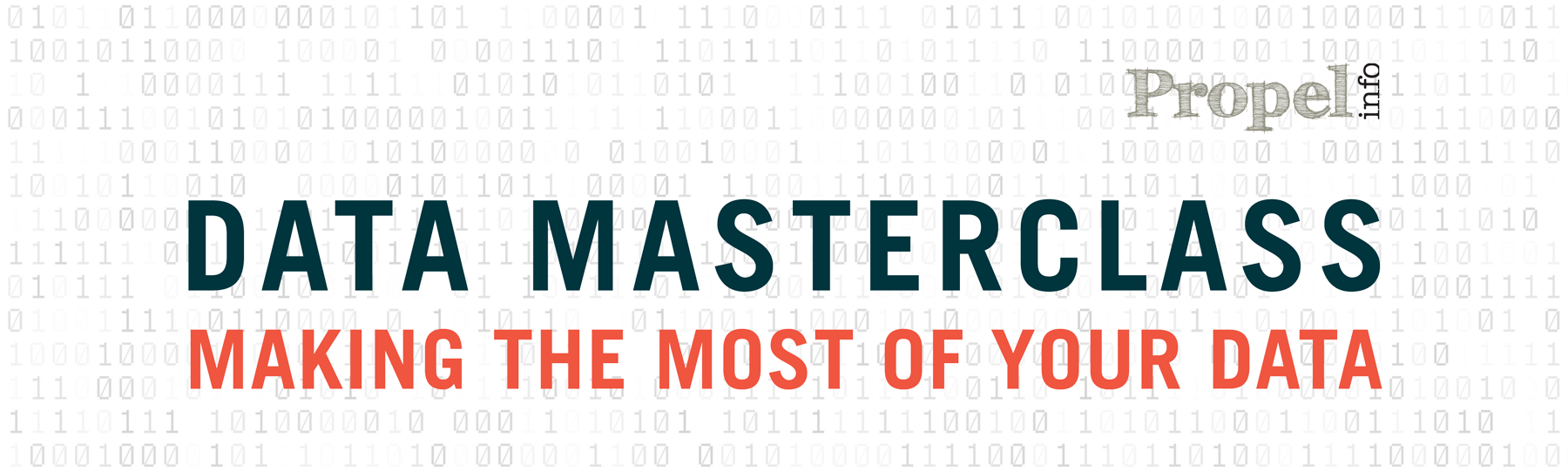 Data Masterclass: Making the most of your data