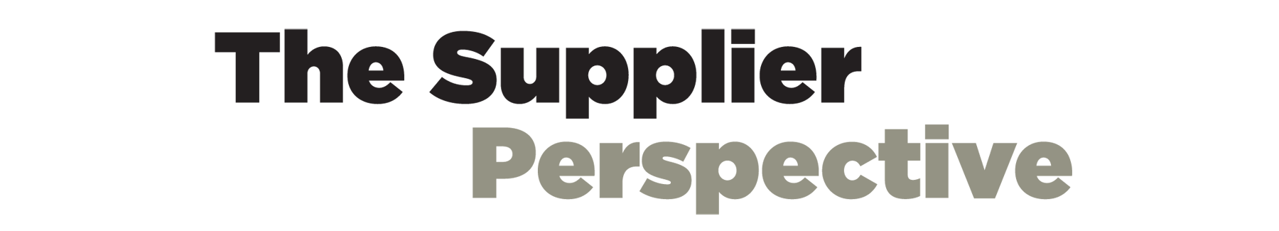 Supplier Perspective